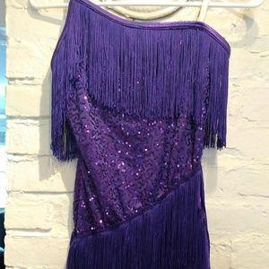Child's Large Purple Flapper Dance Costume